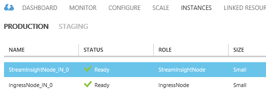 StreamInsight Austin Azure Instances